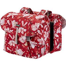Basil Magnolia Luggage Carrier Double Bag L poppy red